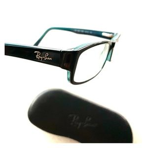 Ray Ban Eye Glasses Black/Blue